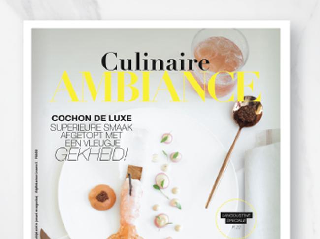 Meinummer Ambiance: 132 pagina's culinaire veelzijdigheid nu in de winkel