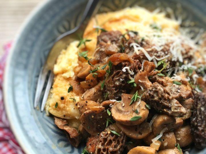 Ragout van champignons met polenta