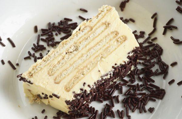 Petit beurre met vanille en hagelslag