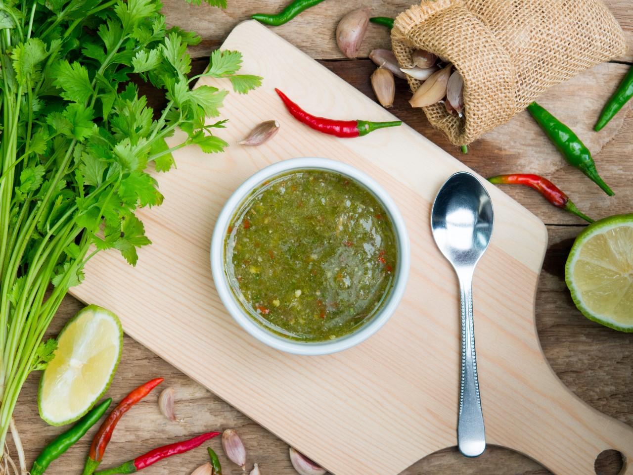 Groene Thaise Dip
