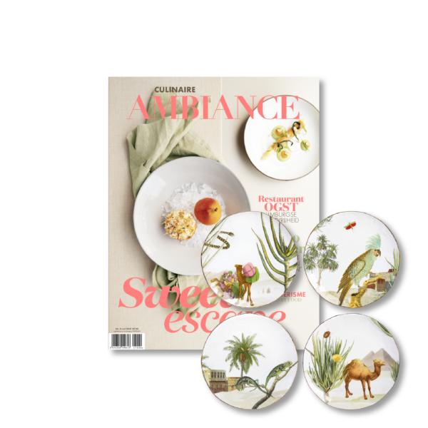 Ambiance magazine met woestijnborden