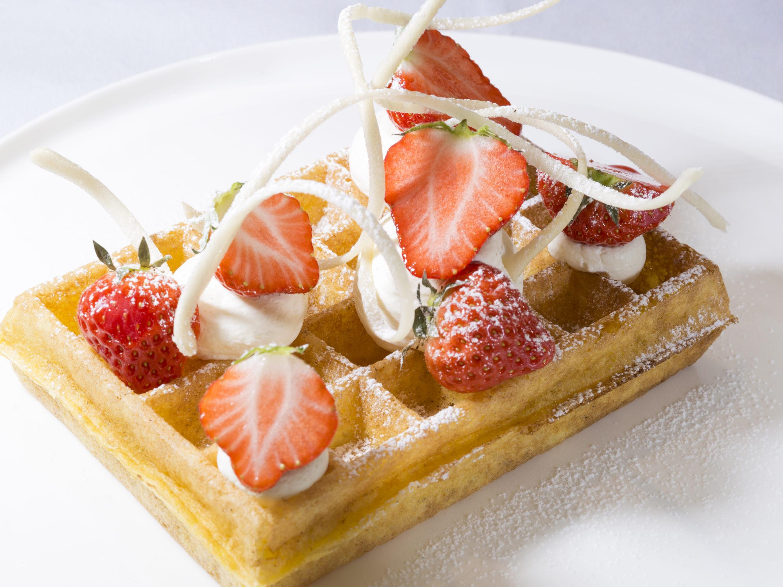Wafels met aardbeien door Roger Van Damme - Culinaire Ambiance