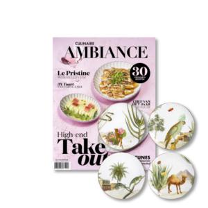 Woestijnborden &Klevering met Culinaire Ambiance magazine maart 2021
