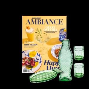 Culinaire Ambiance magazine en fish&fish tableware set van Paola Navone en Serax