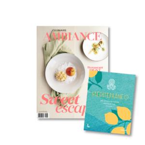 Culinaire Ambiance magazine met mediterraneo kookboek Lannoo