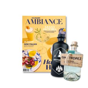 Culinaire Ambiance magazine en gins Gin-Tropez en Matterhorn
